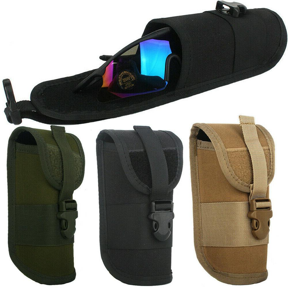 outdoor tactical hunting sunglasses case military molle