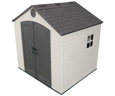 Rubbermaid Plastic Large Vertical Outdoor Storage Shed, 52-C