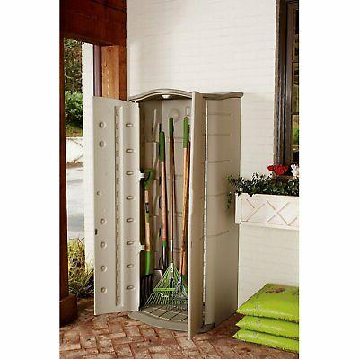 Rubbermaid,Plastic,Vertical,Outdoor,Storage,Shed,Organize,Patio,Garden,Tool,Lawn