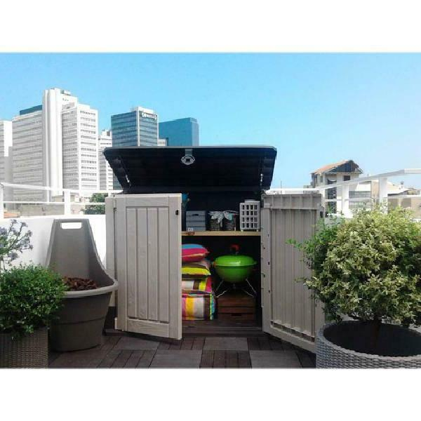 Outdoor Storage Shed Plastic Garden Cabinet All-Weather Util