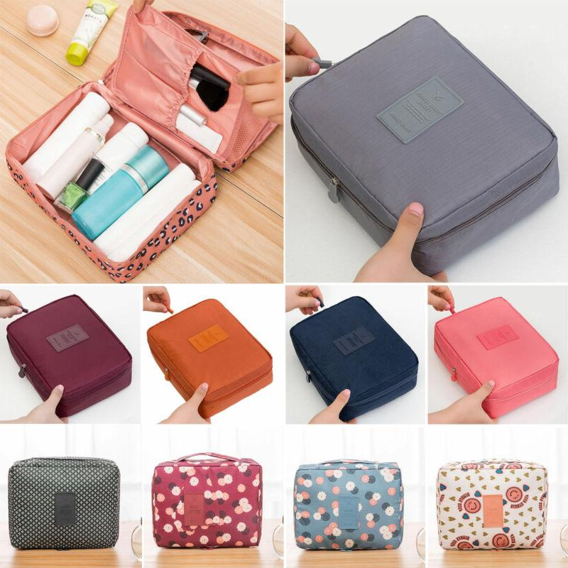 travel cosmetic make up bag toiletry pouch