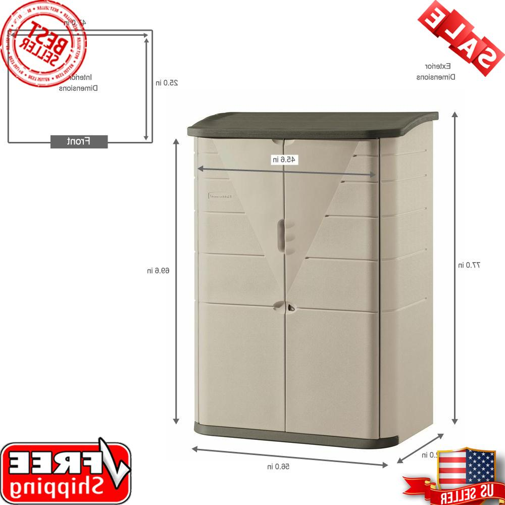 Rubbermaid Storage Shed Resin Plastic Durable Strong