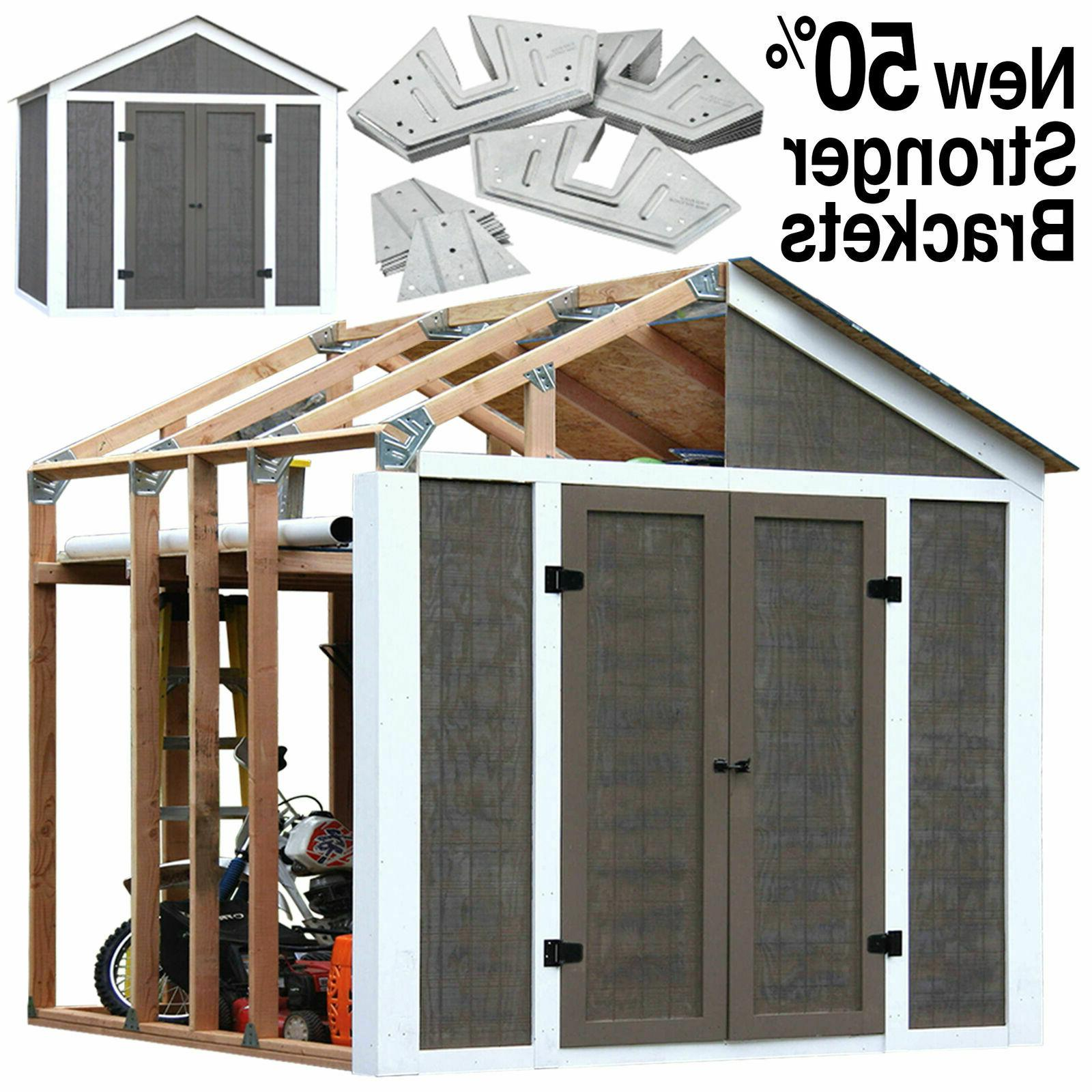 wood 7 x 8 outdoor storage shed