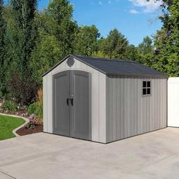 Lifetime Products 8' x 12.5' Resin Outdoor Storage Shed-Free