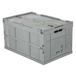 Mount-It! Collapsible Plastic Storage Crate, 65L Capacity #M