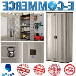 New Mega Tall Outdoor Resin Storage Shed Utility Cabinet Upr