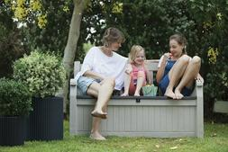 Outdoor Bench With Storage Container Bin Patio Furniture Poo