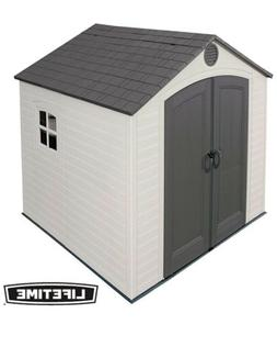 Lifetime outdoor garden storage shed With Window 8 by 7.5 Fe
