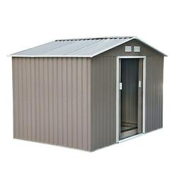 Outsunny Outdoor Metal Garden Storage Shed Grey