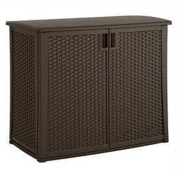Outdoor Resin Wicker Storage Cabinet Shed Storage Accessory