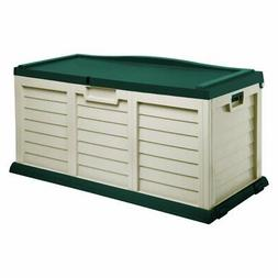 Starplast Outdoor Storage Deck Box with Sit-On-Cover