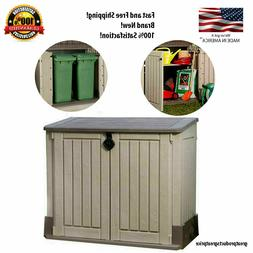 Outdoor Storage Shed Plastic Garden Cabinet All Weather Util