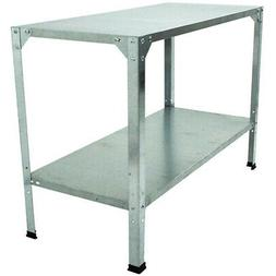 Outdoor Storage Shelf 2 Level Galvanized Steel Shelves Syste