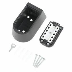 Outdoor Wall Waterproof Mount Spare Key Safe Storage Box Pus