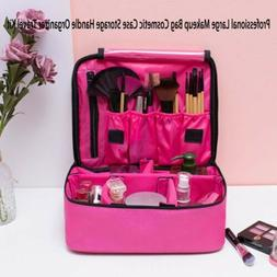 Pink Cosmetic Makeup Bag Case Travel Outdoor Toiletry Hangin