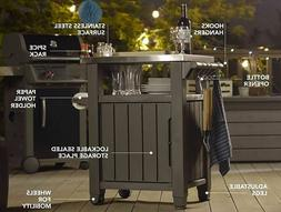 Serving Bar Cart Outdoor Patio BBQ Pool Party Storage Table