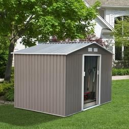 Steel Outdoor Storage Shed Garden Backyard Toolshed with Flo