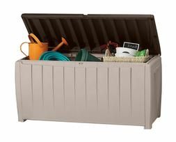 Storage Deck Box Outdoor Patio Large Plastic Container Keter