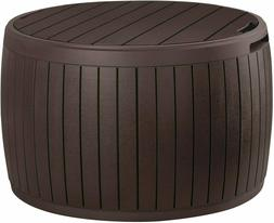 Storage Deck Box Table Outdoor Container Bin Chest Patio Ket