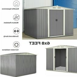 Storage Shed Garden Storage Building Outdoor Tool House Slid