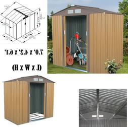 Storage Shed Outdoor Garden Storage Building Tool House Slid