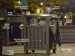 Table Storage Prep Station Indoor Outdoor BBQ Entertainment