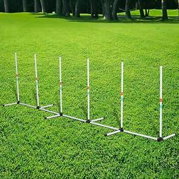 Sturdy Dog Weave Poles Pet Agility Training Dogs Obstacle Ou