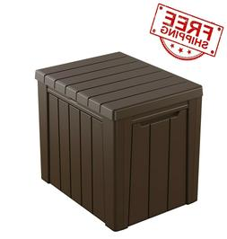 Keter Urban 30-Gallon Outdoor Deck Box/Storage Table Classic
