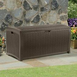 Waterproof Outdoor Resin Wicker Patio Storage Box for Toys &