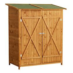 Wood Large Patio Storage Sheds Outdoor Yard Garden Box Cabin